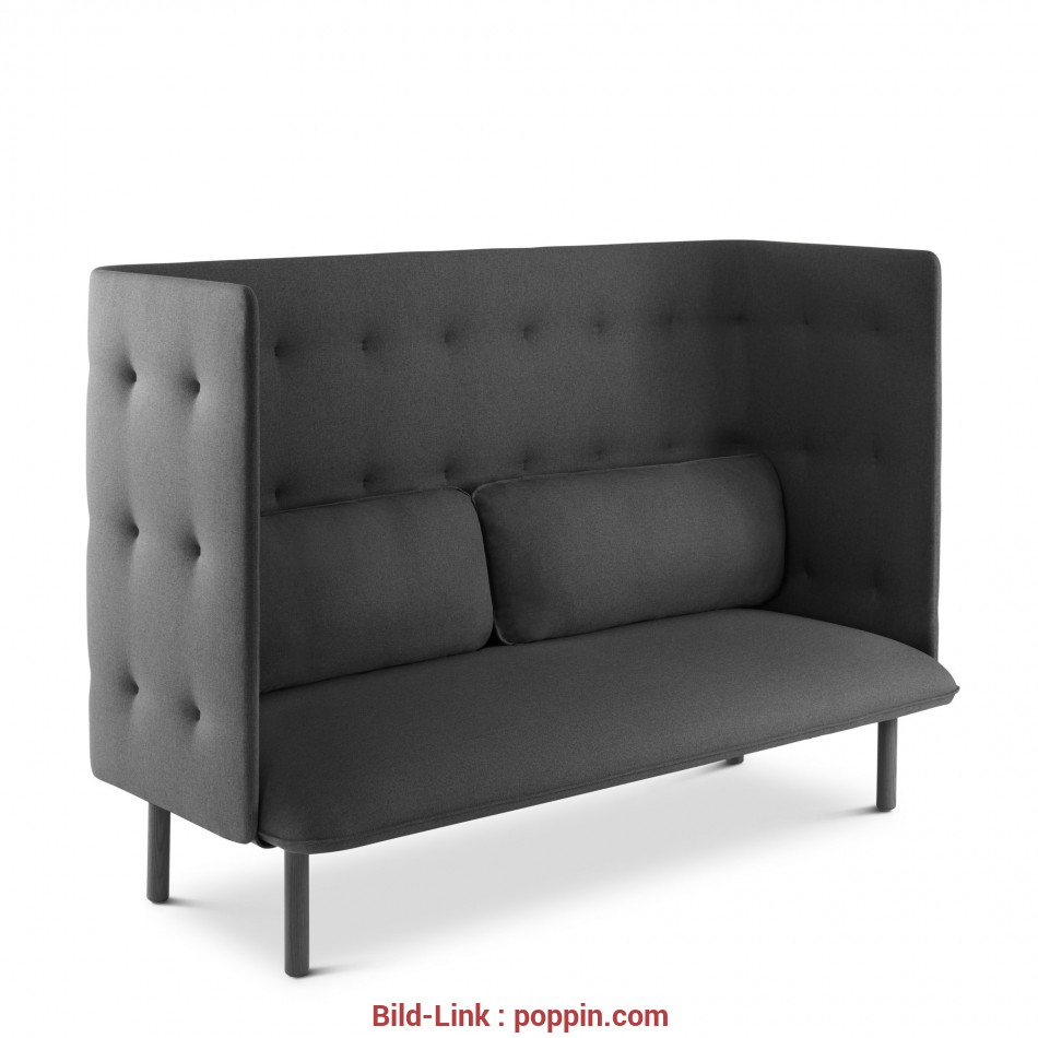 Lounge Sofa Dark Gray QT Lounge Sofa, Privacy Lounge Seating, Poppin 4 Glamourös Lounge Sofa