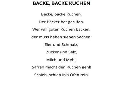 Backe Backe Kuchen Lied Backe, backe Kuchen, Lied & Liedtext, MoupMoup Kinderlieder Backe Backe Kuchen Lied Am Leben Backe, Backe Kuchen, Lied & Liedtext, MoupMoup Kinderlieder
