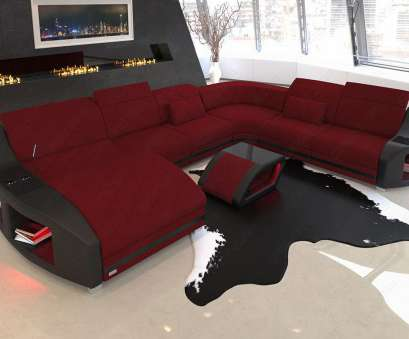 Designer Couch Perfekt Modern Sofa Swing, In Fabric With Cooling, Holders In Mineva 10, Dark Red