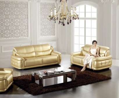 Ebay Sofa Details about AE609-GD Modern 2Pcs Gold Bonded Leather Sofa Set 5 Attraktiv Ebay Sofa