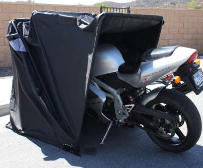 Moped Garage Retractable Motorcycle Cover Shelter, Drive in Motorcycle Enclosure, Cycle or Moped Garage Tent Cover 3 Tolle Moped Garage