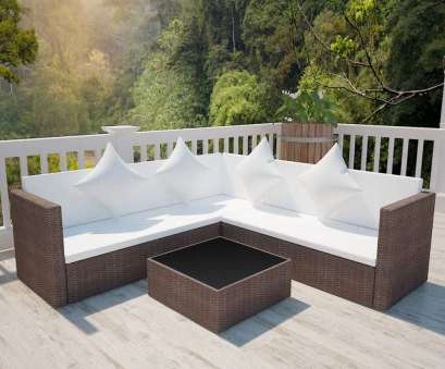 Polyrattan Sofa Details about vidaXL Garden Furniture, Wicker Poly Rattan Brown Outdoor Sofa Lounge Couch 4 Perfekt Polyrattan Sofa