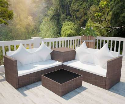 Rattan Lounge Set Details about vidaXL Outdoor Lounge, Wicker Poly Rattan Brown Garden Furniture Sofa Seat 4 Quoet Rattan Lounge Set
